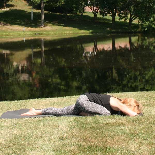 Yoga Pose: Pigeon Prep - Kick It Up Coaching